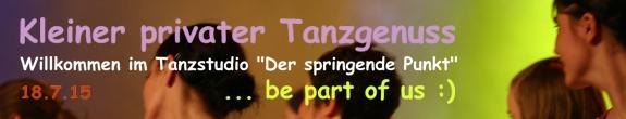 Banner Kleiner privater Tanzgenuss 2015