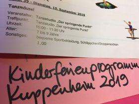 10.09.2019 Kinderferienprogramm