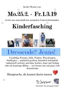 Kinderfasching Jeans