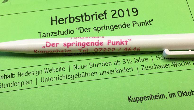 Herbstbrief 2019 wird ab 10.10. verteilt
