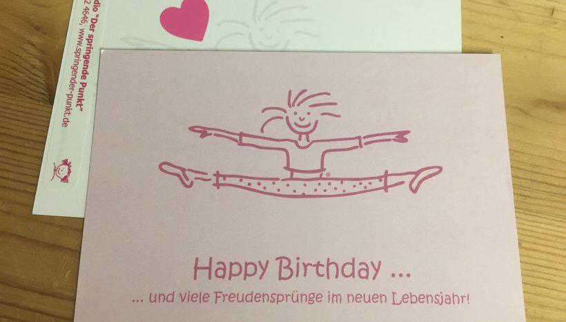 Geburtstagskarte 2020 für Pünktler