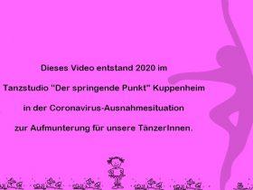 Tanzpause/Corona-Virus: Videos für Pünktler ab 24.03.2020