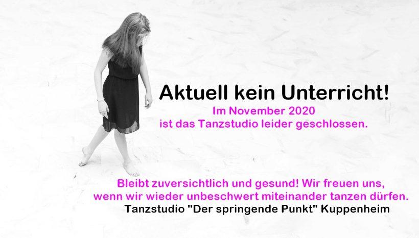 WICHTIG@allePünktler - Tanzstudio ab 02.11.2020 geschlossen (Lockdown)
