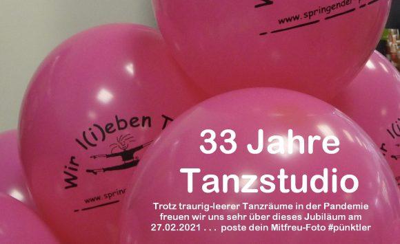 27.02.2021 - Glückwünsche zu 33 Jahre Tanzstudio