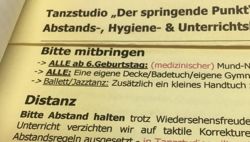 Unser Hygiene- &Unterrichtskonzept Sommer 2021