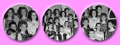 Gruppenaufnahmen der Tänzerinnen auch mit der Choreographin Susanne