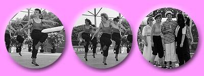 Tänzerinnen beim DJK Kinderfest 1989