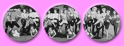 Gruppenfotos der Tänzerinnen