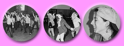 Jugendliche tanzen für Kinder auf deren Hits, selbstverständlich in angesagtem Hip Hop Look