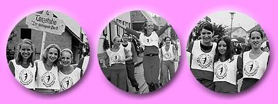 das Junge Ensemble tanzt sichtlich erfreut durch die Strassen von Kuppenheim