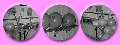Luftballons zieren das Studio