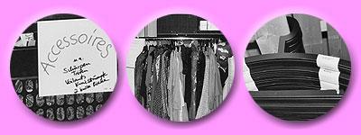 viele Kleiderbügel werden gebraucht um alle Kostüme zu archivieren
