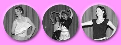 Sara Jane zeigt Klassischen Tanz, ebenso gezeigt wird Thriller und It´s raining men