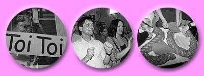 Toi-toi-toi für die Tänzerinnen, Lisas stolze Eltern Bernhard und Sabine, Hefeteig-20