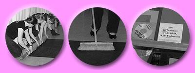 Tanzteppich legen, Tanzteppich fegen und ganz wichtig: die richtige Musik auf CD