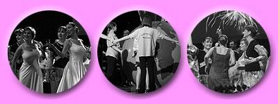 die Macht vieler Tänzerinnen auf der Bühne