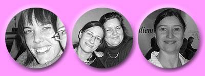Tanja, Daniela und Susanne, Esther