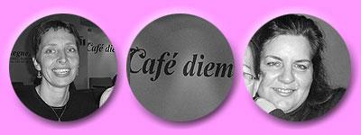 Susanne B, Schriftzug café diem, Susanne