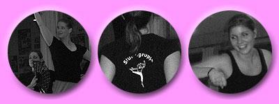 Anne-Chrischdel mit Fächer und Jenny, Studiogruppen-Aufdruck, Jenni in Aktion