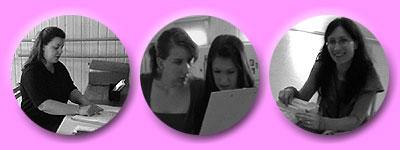 Susanne, Mädels mit Durchblick, Daniela mit Karteikasten
