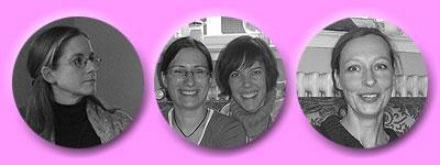 Heidrun, Daniela und Tanja, Christine (v.l.n.r)