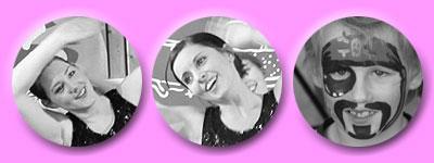 3mal strahlende Gesichter