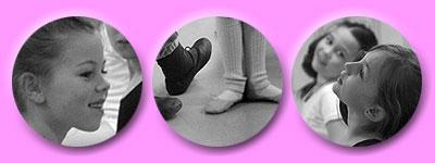 stolze Mädchen, tanzende Füßchen