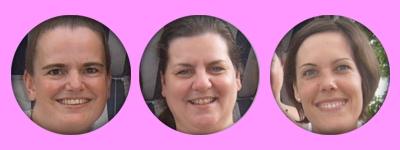 drei der Lehrkräfte des Tanzstudios