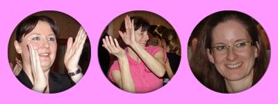 klatschende Tänzerinnen, fröhliche Lehrkraft