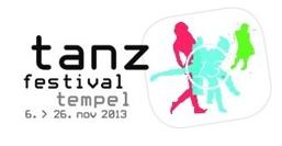 Logo tanz festival im Tempel Karslruhe November 2013
