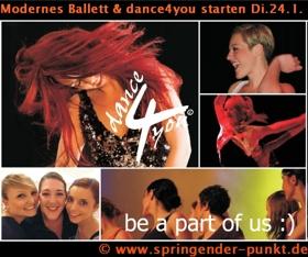 Modernes Ballett, dance4you, Kursstart 2017