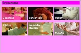 Kursangebot Erwachsene im Tanzstudio 2017