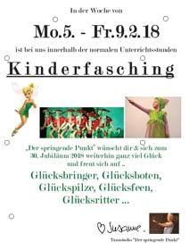 Flyer Kinderfasching Glück 2018