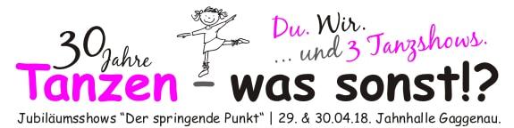 Logo Tanzshows 2018, 30 Jahre Tanzen-was sonst!?