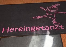 Fußmatte Hereingetanzt, Arabesqua&friends