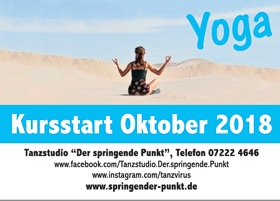 Flyer Yoga im Tanzstudio
