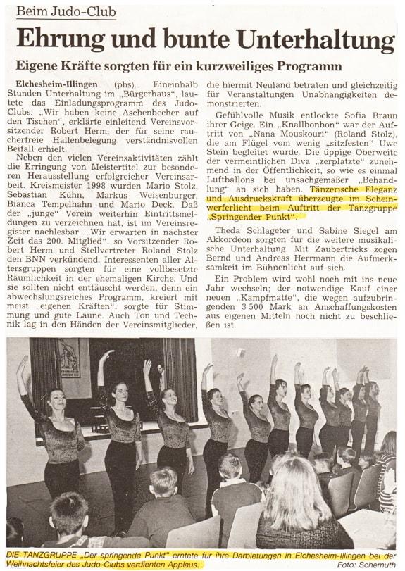 Tänzerischer Beitrag Judo-Club Elchesheim-Illingen