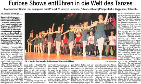 furiose Show, 25 Jahre DSP, ausgiebiger Beifall für Groß und Klein