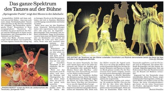 breites Spektrum Tanz, begeistertes Publikum, Tanzshows Jahnhalle Gaggenau