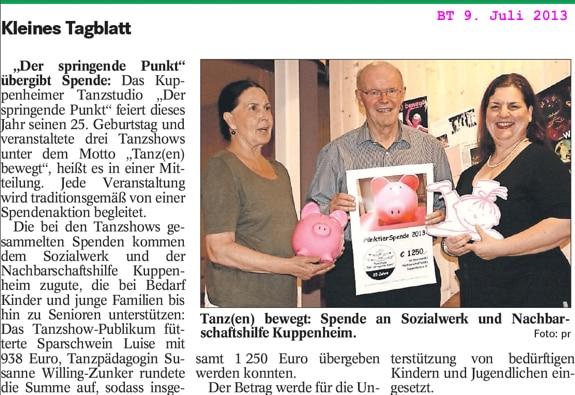 Spendenschwein Luise für Nachbarschaftshilfe und Sozialnetzwerk Kuppenheim, 1250 Euro übergeben, Susanne Willing-Zunker