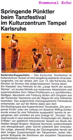 Springende Pünktler gefühlvoll und innig, Kuppenheims Stolz in Karlsruhe
