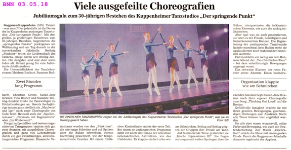 Jubiläumsgala 30 Jahre Der Springende Punkt, Jahnhalle Gaggenau ausverkauft